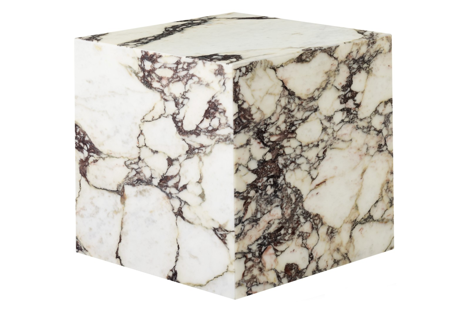 Plinth Cubic Side Table Rose Marble