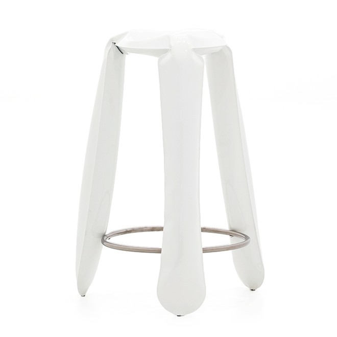 Plopp Barstool White Glossy RAL 9010