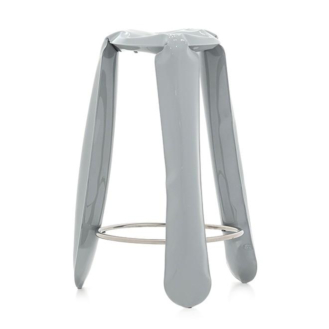 Plopp Barstool Blue Grey RAL 7031