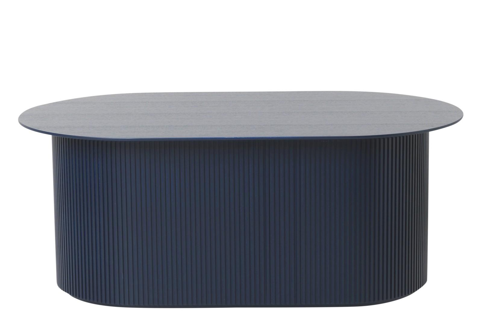 Podia Oval Coffee Table Dark Blue