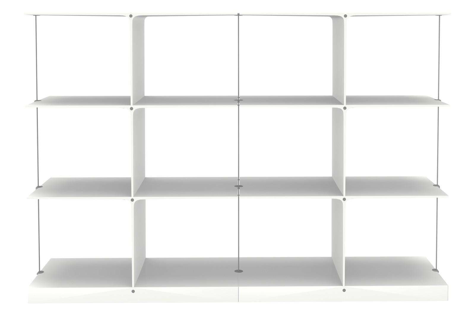 Poise Shelving System, 3x2 3x2 White