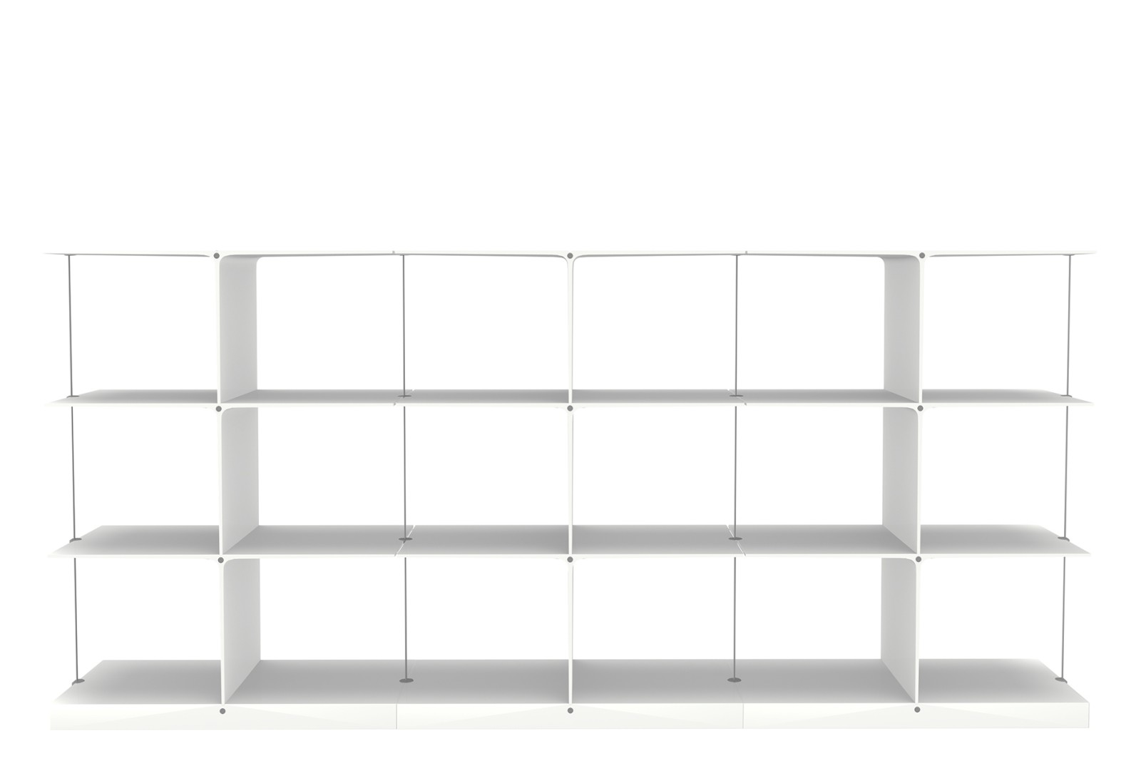 Poise Shelving System, 3x3 3x3 White Low