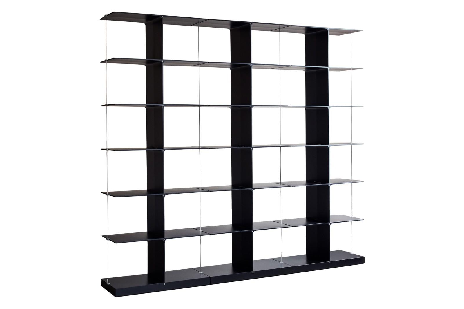Poise Shelving System, 3x6 3x6 Black
