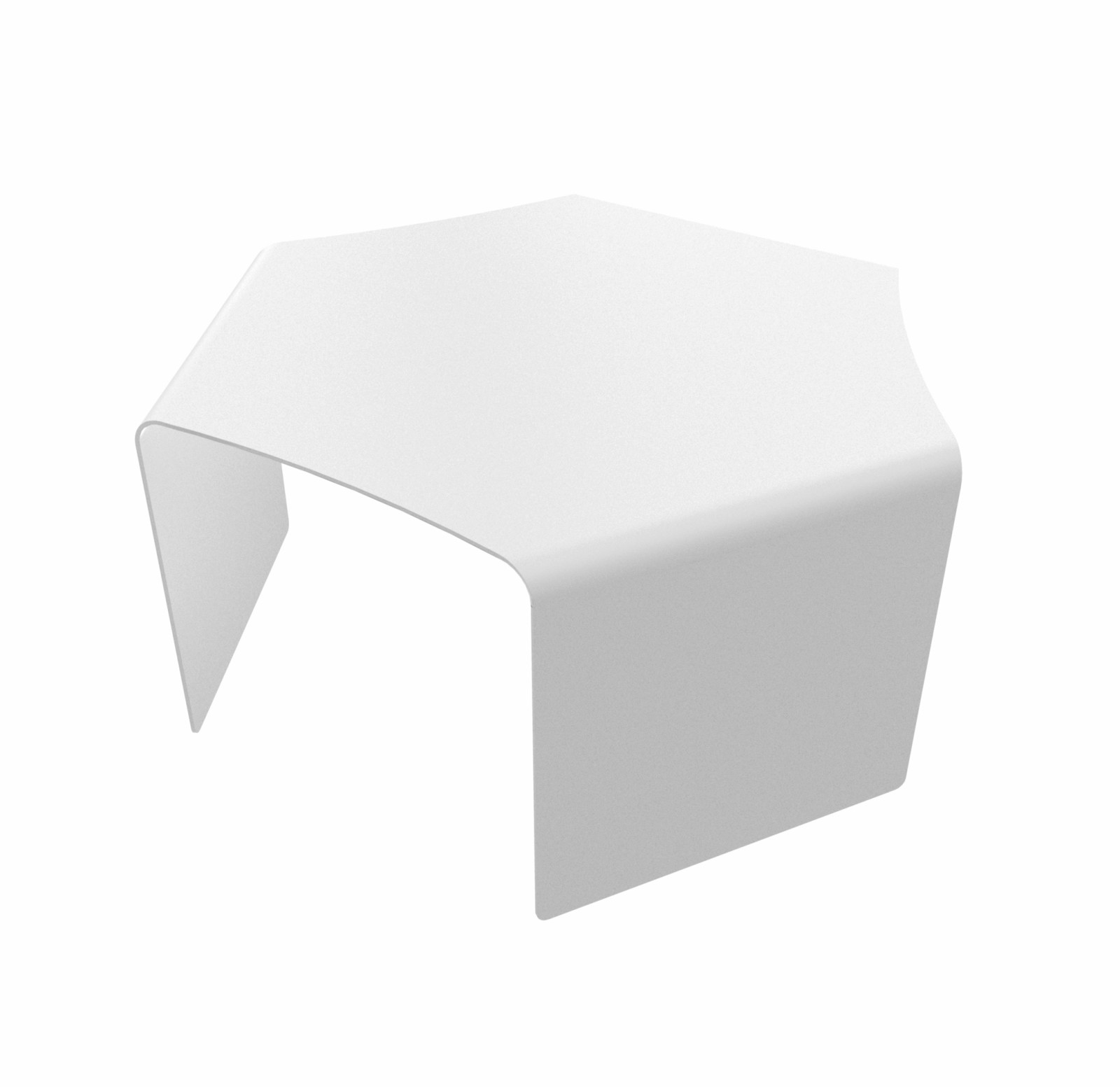 Ponant Upper Solo Low Table White - 01 RAL 9016
