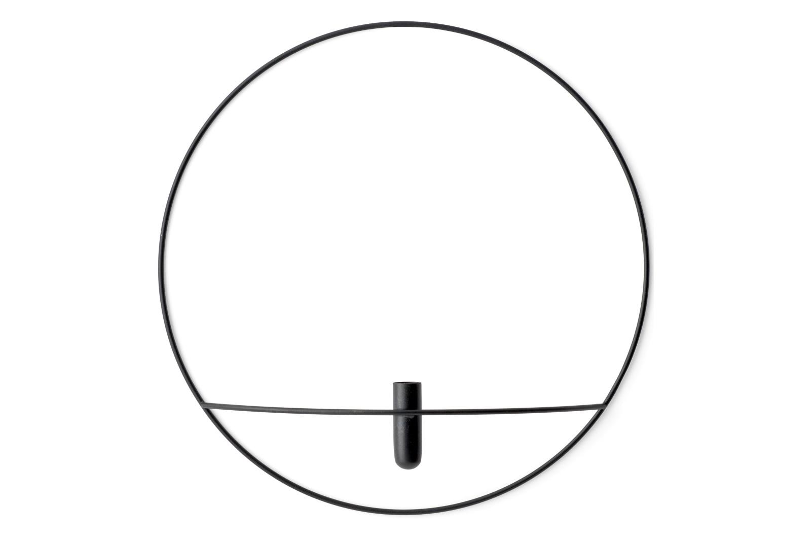 POV Circle Vase L, Black