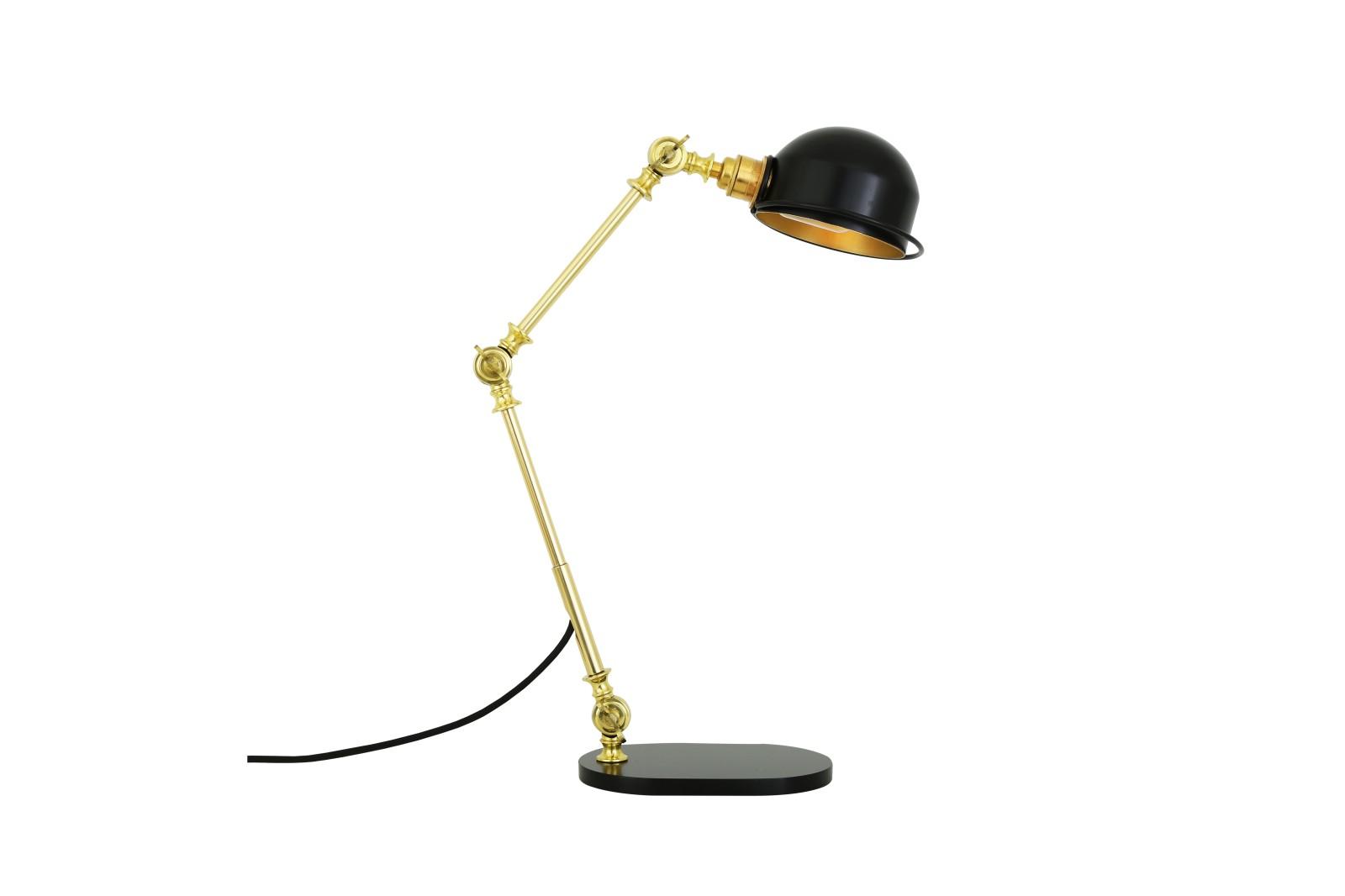 Puhos Table Lamp Powder Coated Matte Black & Polished Brass, EU Plug