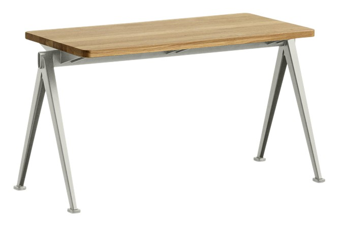 Pyramid 11 Bench Wood Clear Oak, Metal Beige, 85