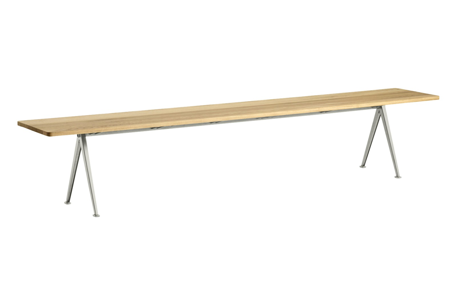 Pyramid 12 Bench Wood Clear Oak, Metal Beige, 250