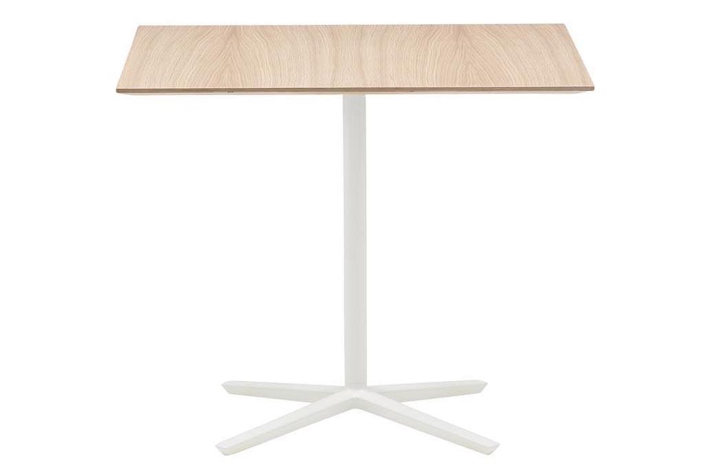 Quattro Rectangular Dining Table Wood finish Beech, Aluminium Finish White, Yes
