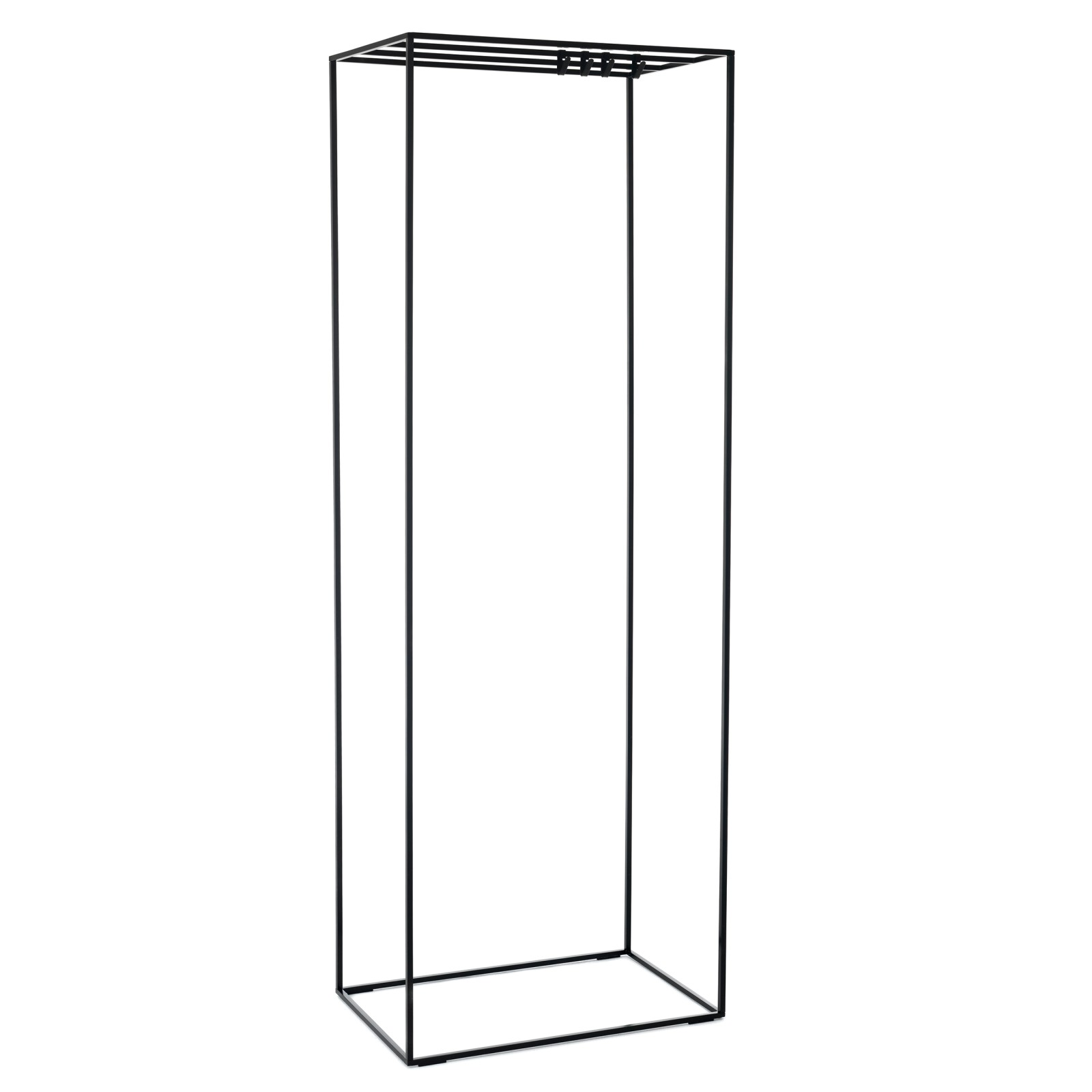 Rack Square Coat Stand 89 Polished Chrome Smoked