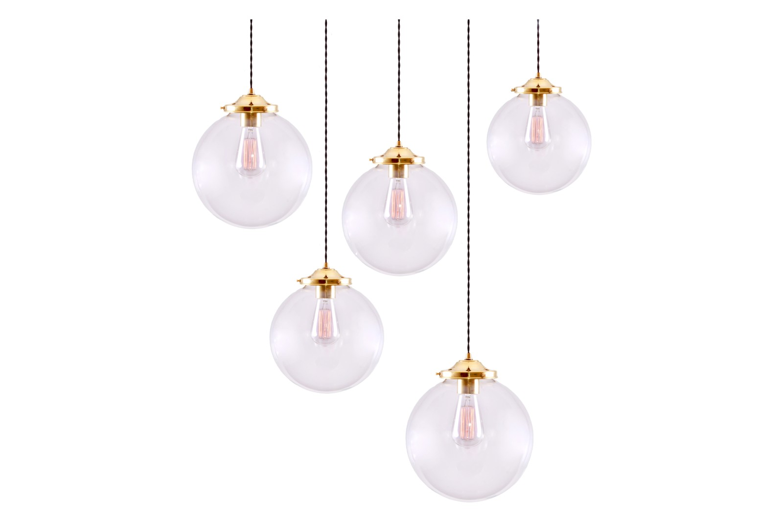 Riad Cluster Chandelier Polished Brass