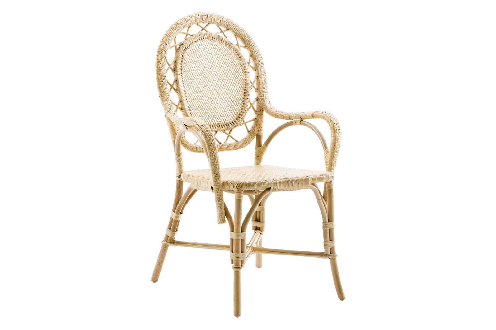 Romantica Chair with Arms Set of 2 Natural
