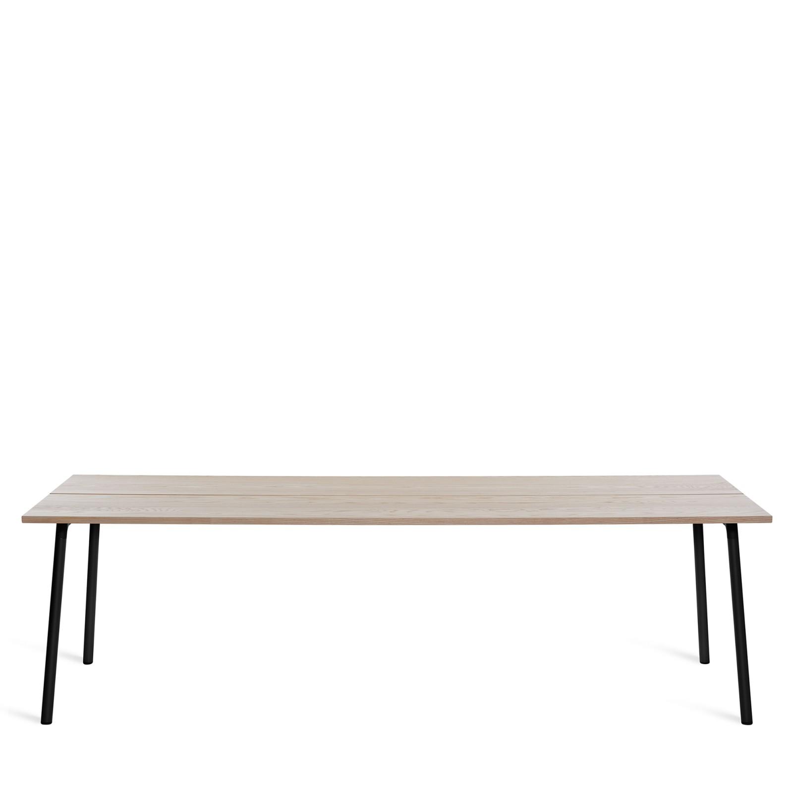 Run Dining Table Rectangular 244cm, Black Powder Coated, Ash