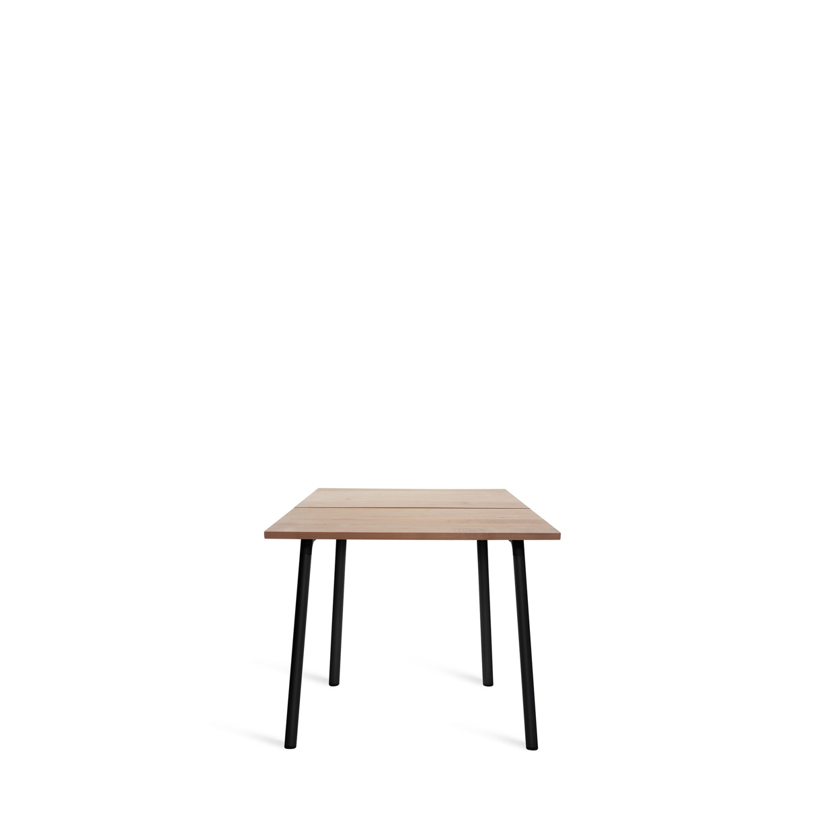 Run Dining Table 83cm, Black, Cedar Top