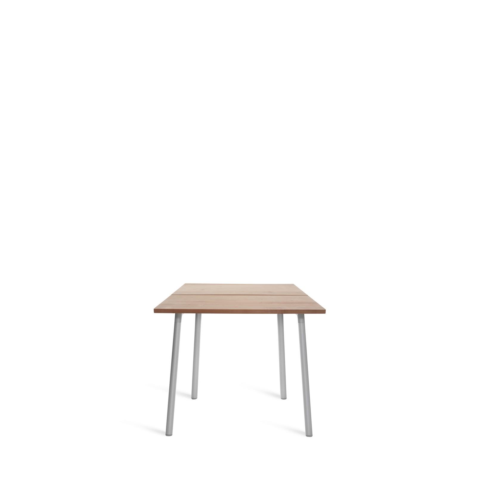Run Dining Table 83cm, Aluminium, Cedar Top