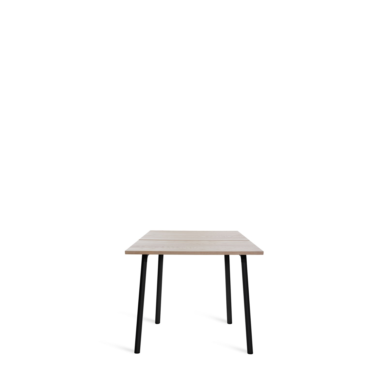Run Dining Table 83cm, Black, Ash Top