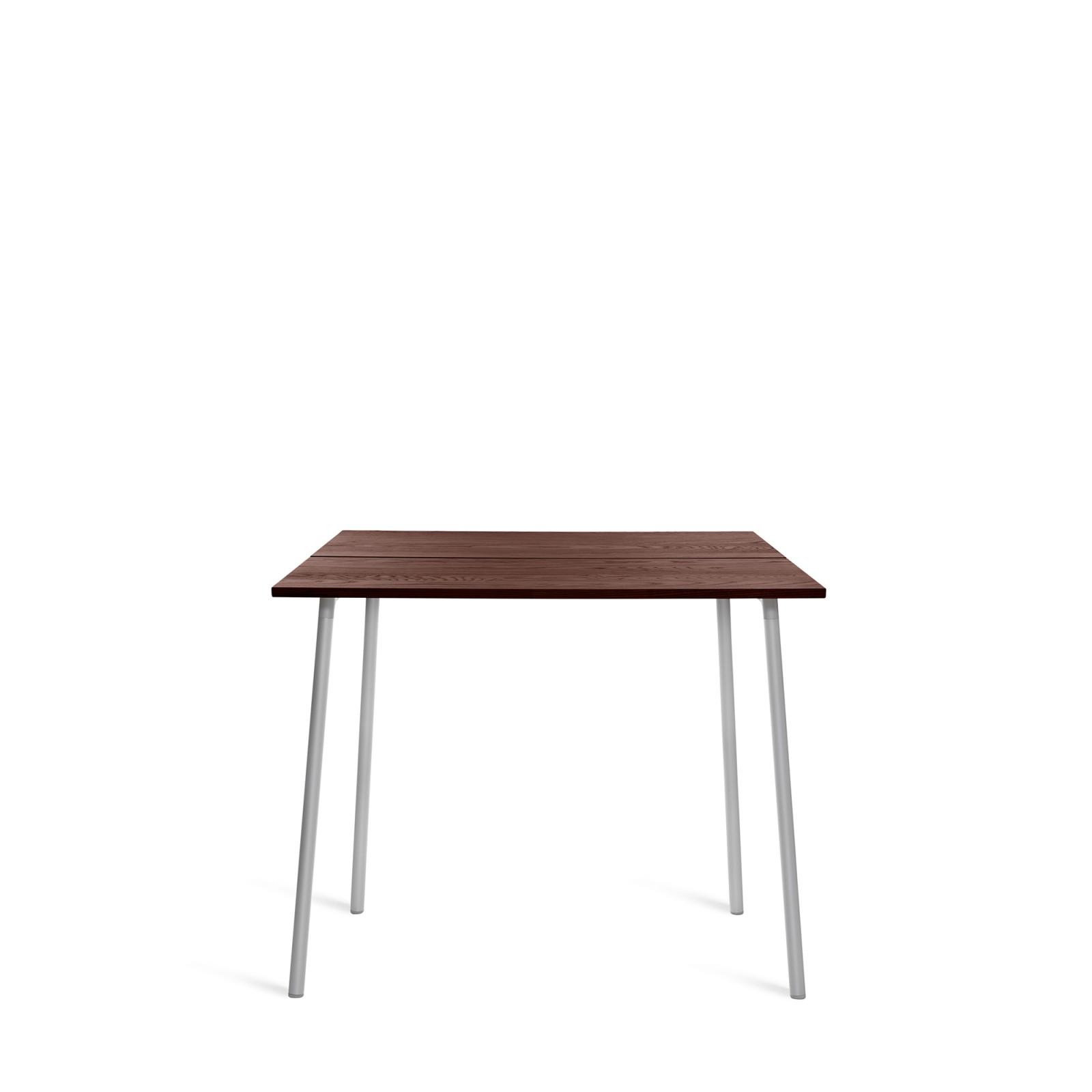 Run High Table Aluminium, Walnut, 183cm