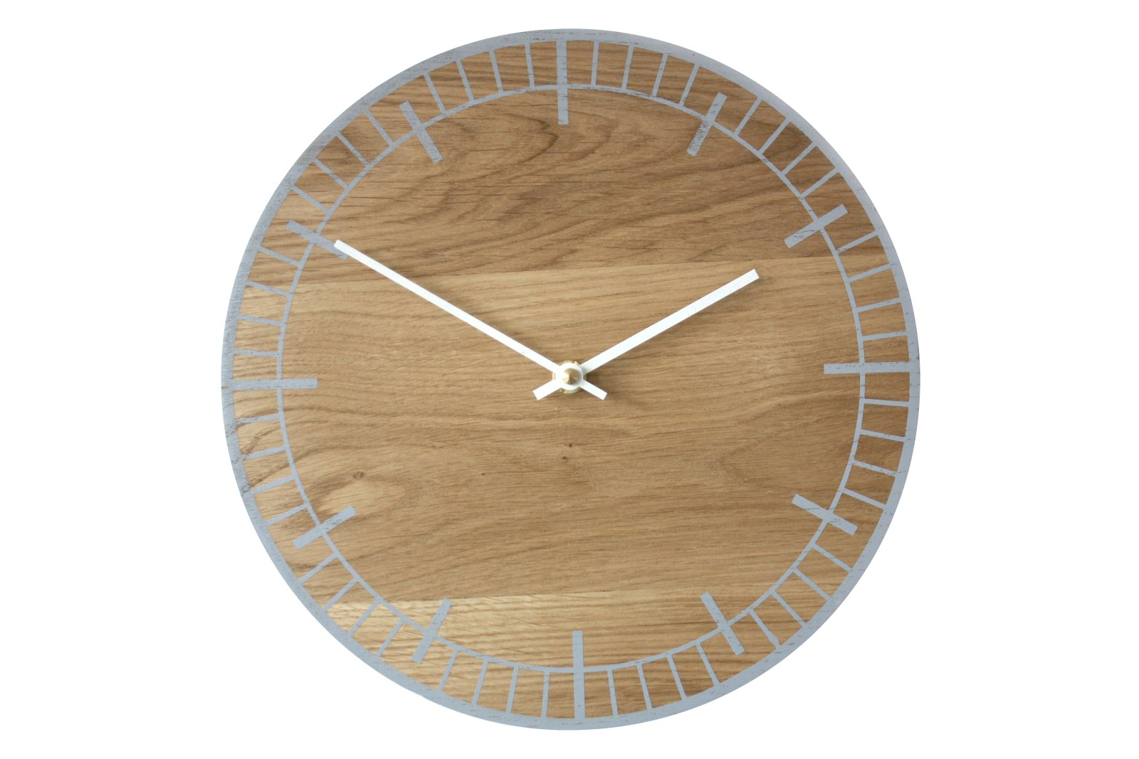 S2 Wall Clock Grey with White Hands