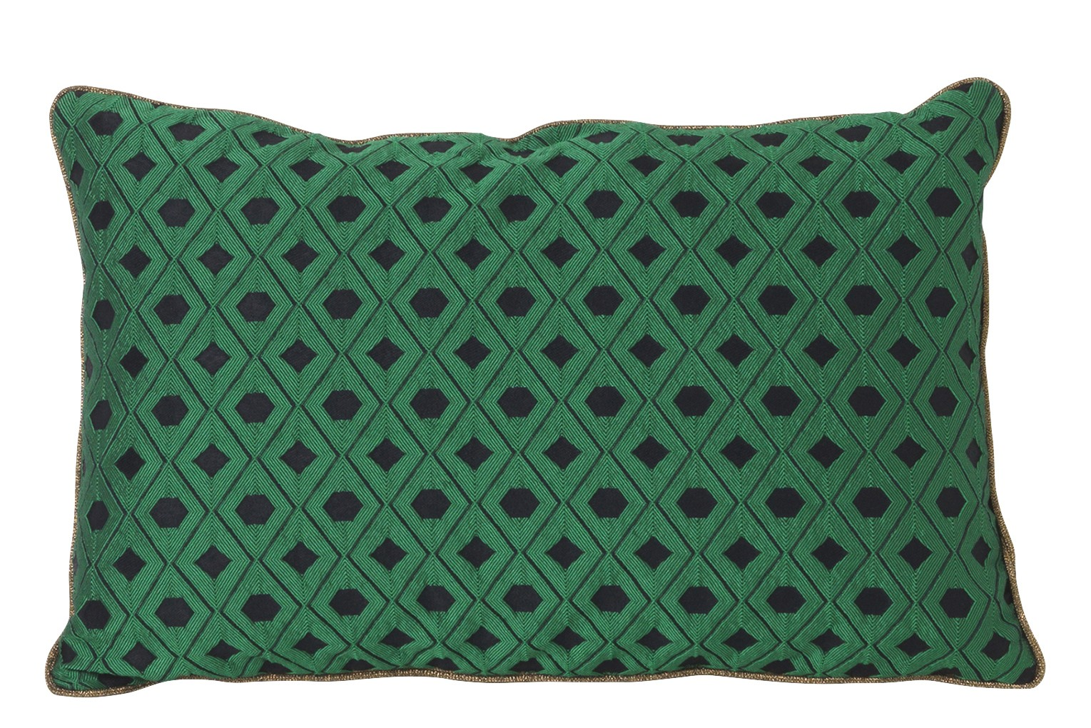 Salon Cushion - Set of 2 Mosaic - Green, 40 x 25 cm