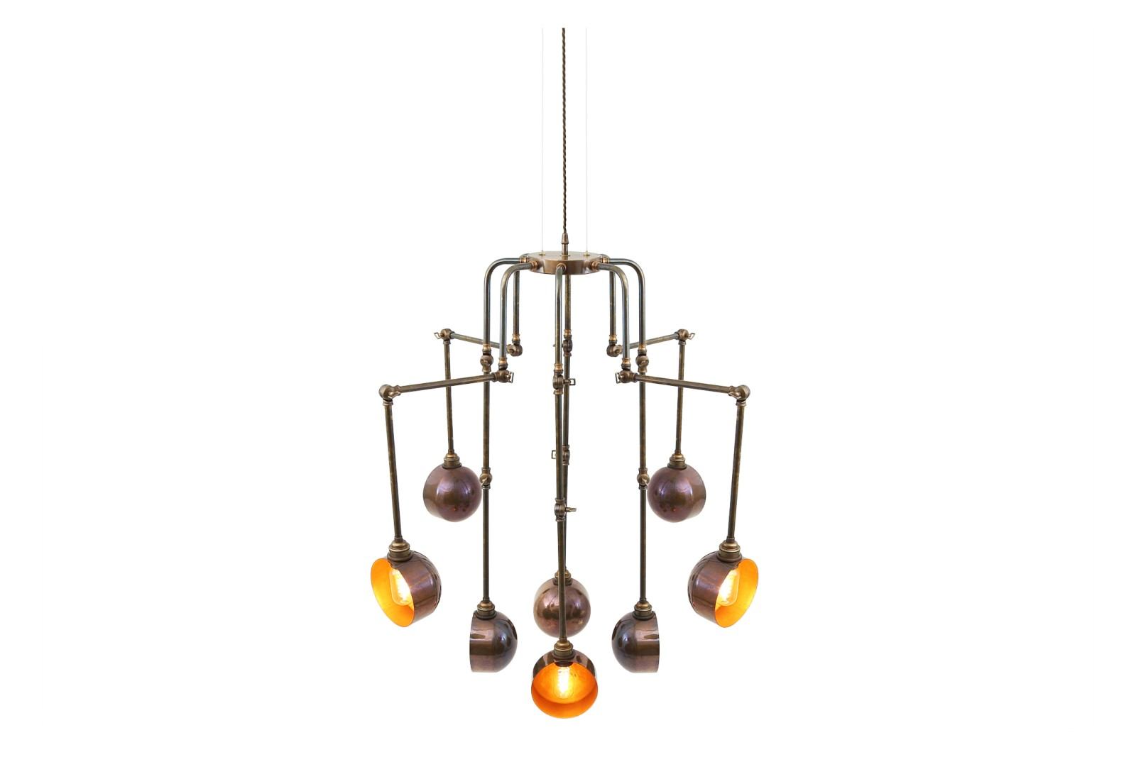 San Jose 8 Arm Chandelier Antique Brass