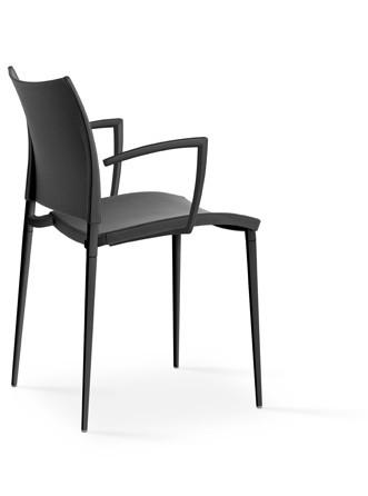 Sand Armchair - Stackable Polypropylene F39 Black, Polypropylene F39 Black, No