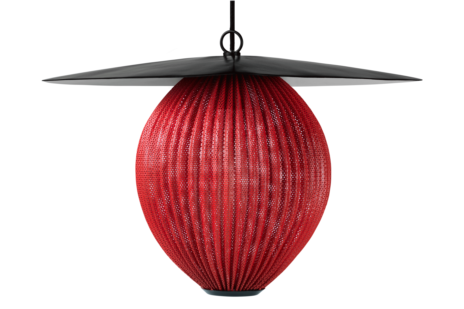Satellite Pendant Light Ruby Red Semi Matt, Medium