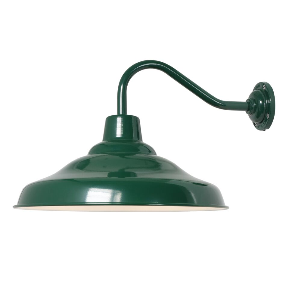 School Wall Light 7200 Green / white interior