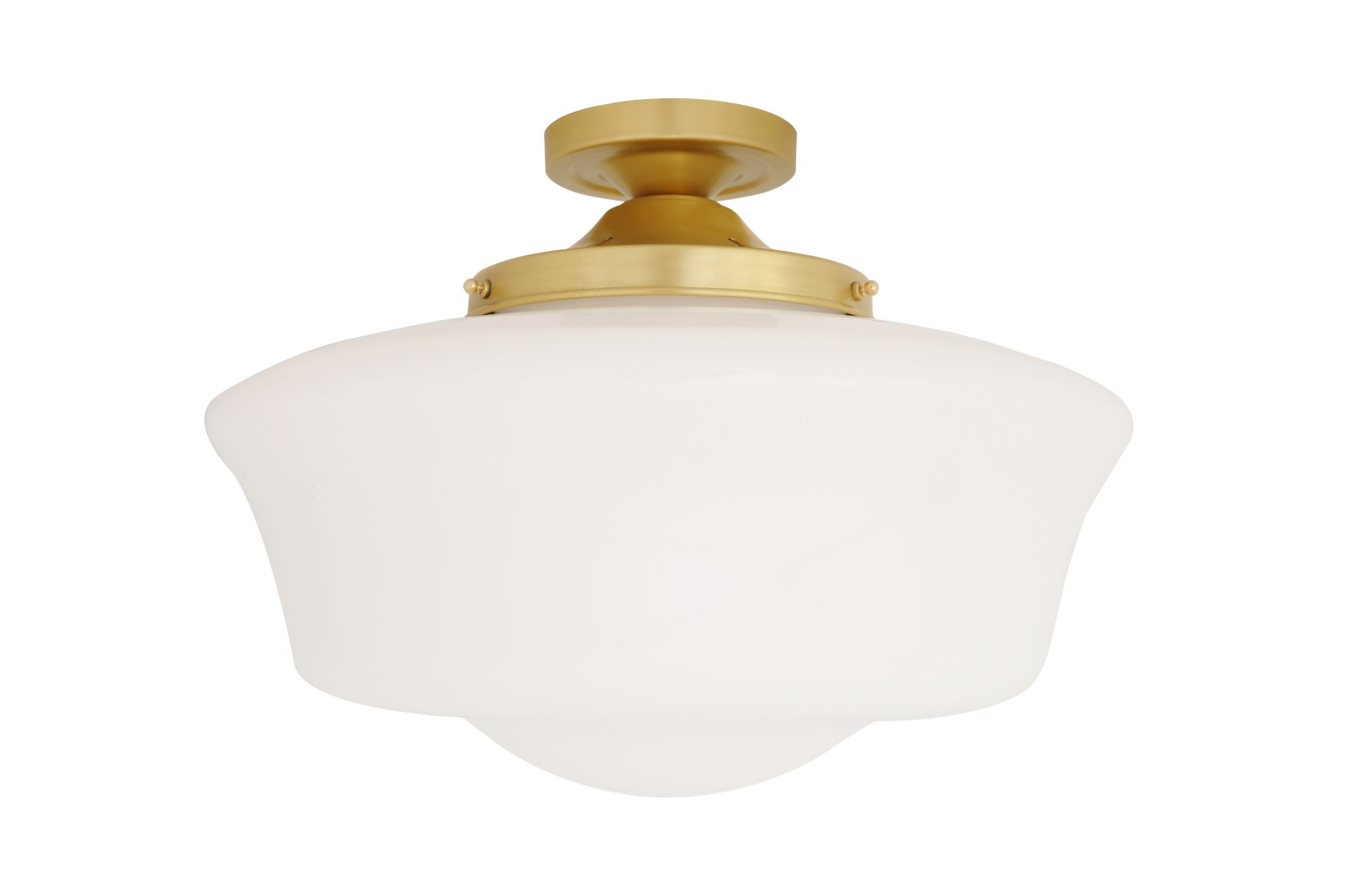 Schoolhouse Ceiling Light Satin Brass