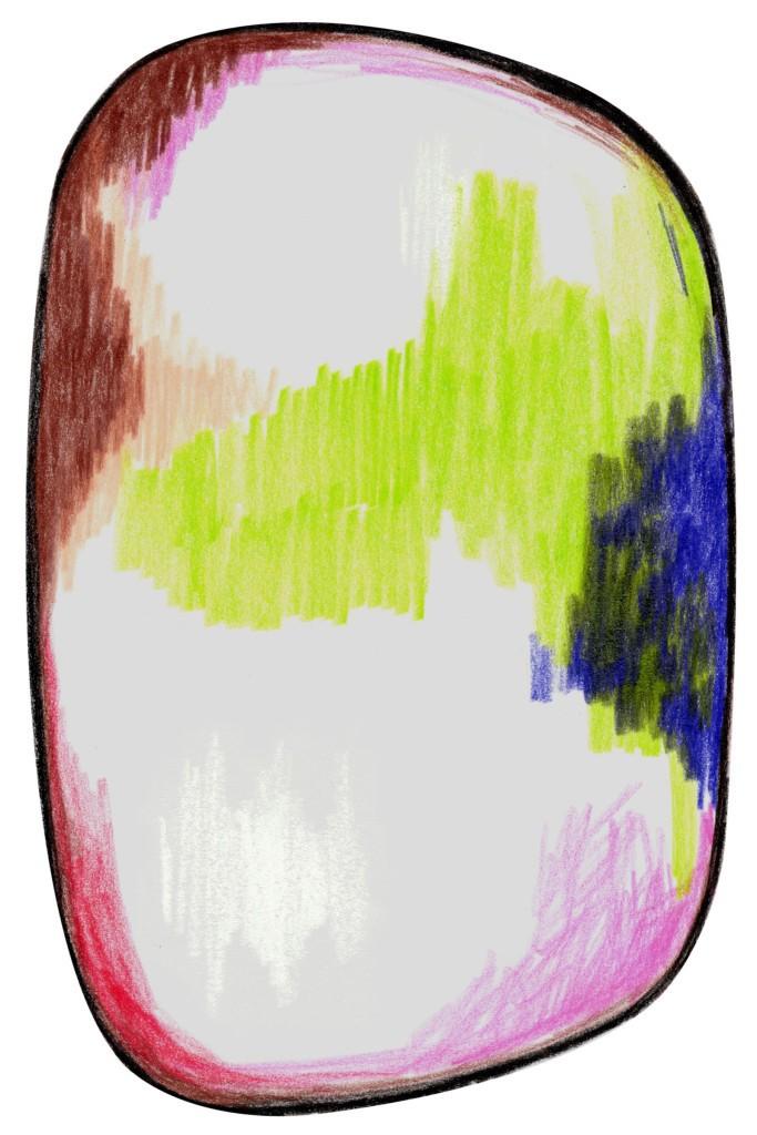 Scribble Rug Green / Blue / Pink, Polyamide