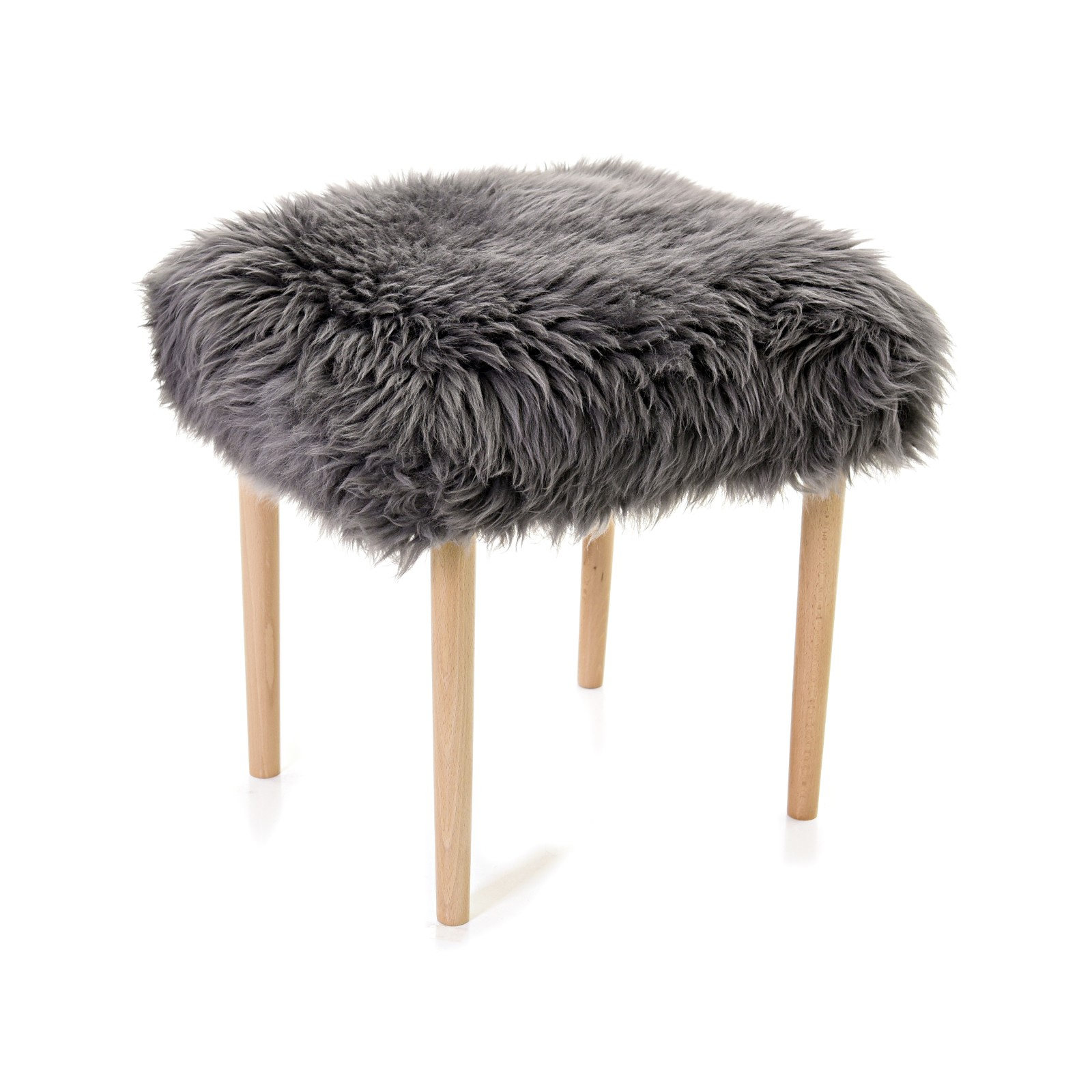 Seren - Sheepskin Dressing Table Stool Slate Grey