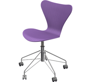 Series 7 Swivel Chair Coloured Ash Evren Purple 595
