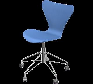 Series 7 Swivel Chair Coloured Ash Trieste Blue 845