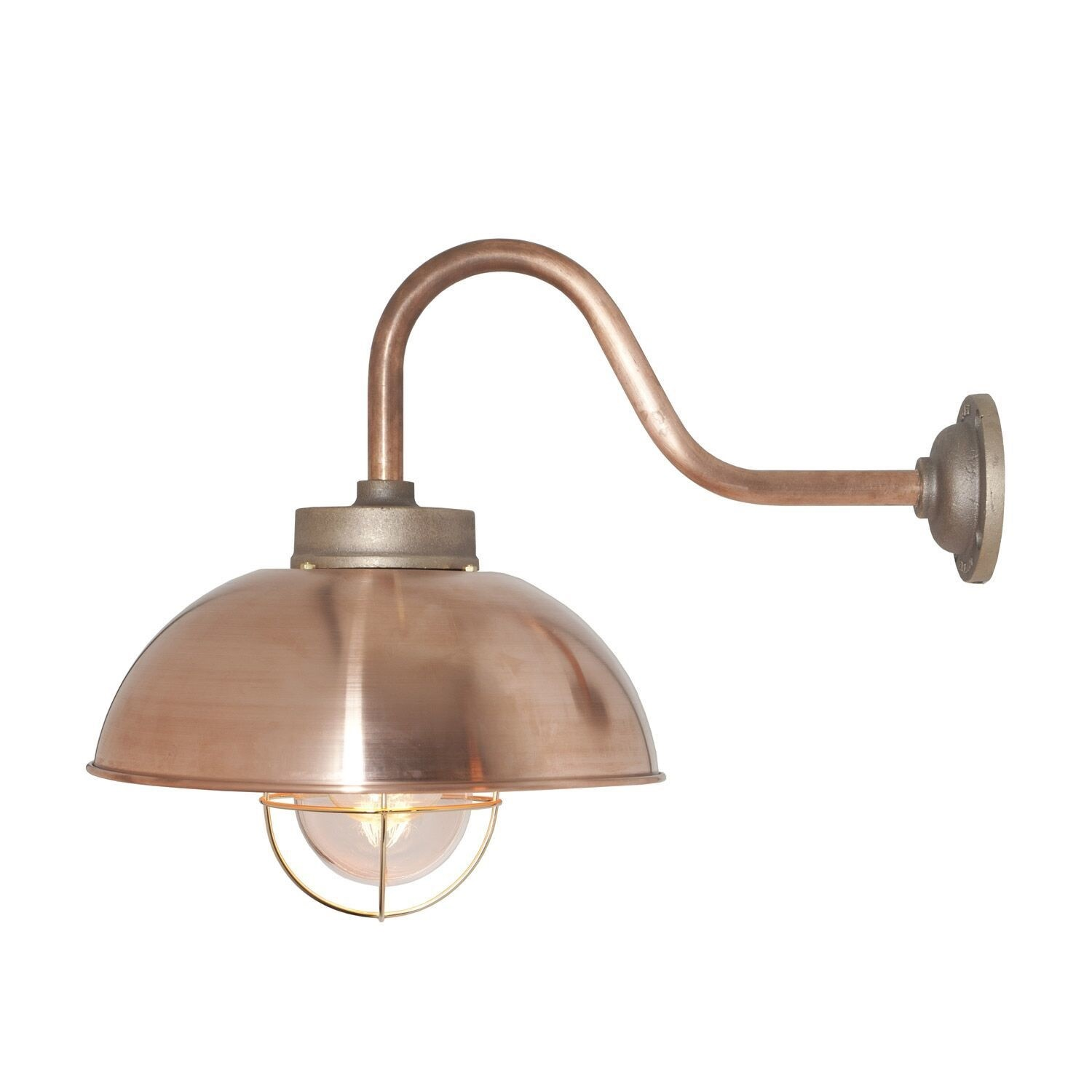 Shipyard Wall Light 7222 Copper, Clear glass