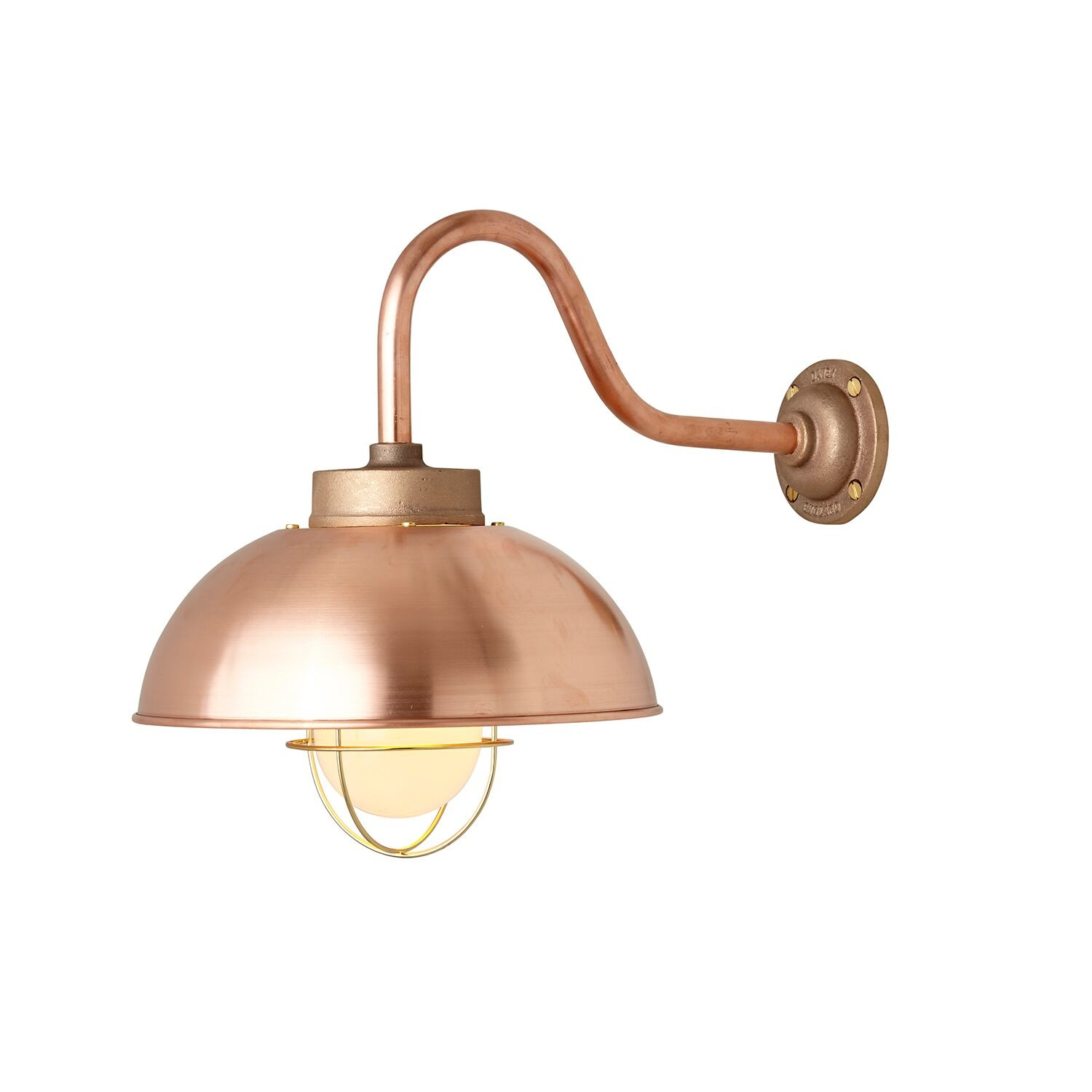 Shipyard Wall Light 7222 Copper, Frosted glass