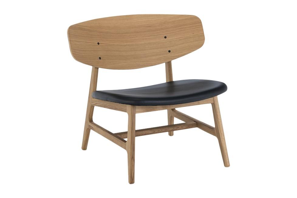 Siko Lounge Chair Oiled Oak, Black