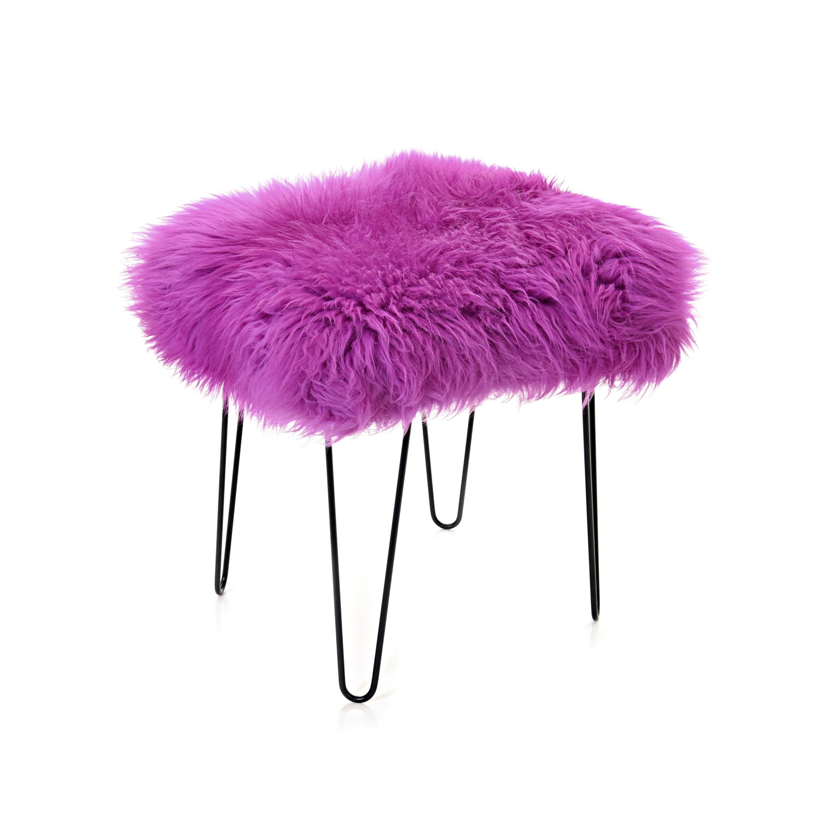 Sioned - Sheepskin Dressing Table Stool Cerise