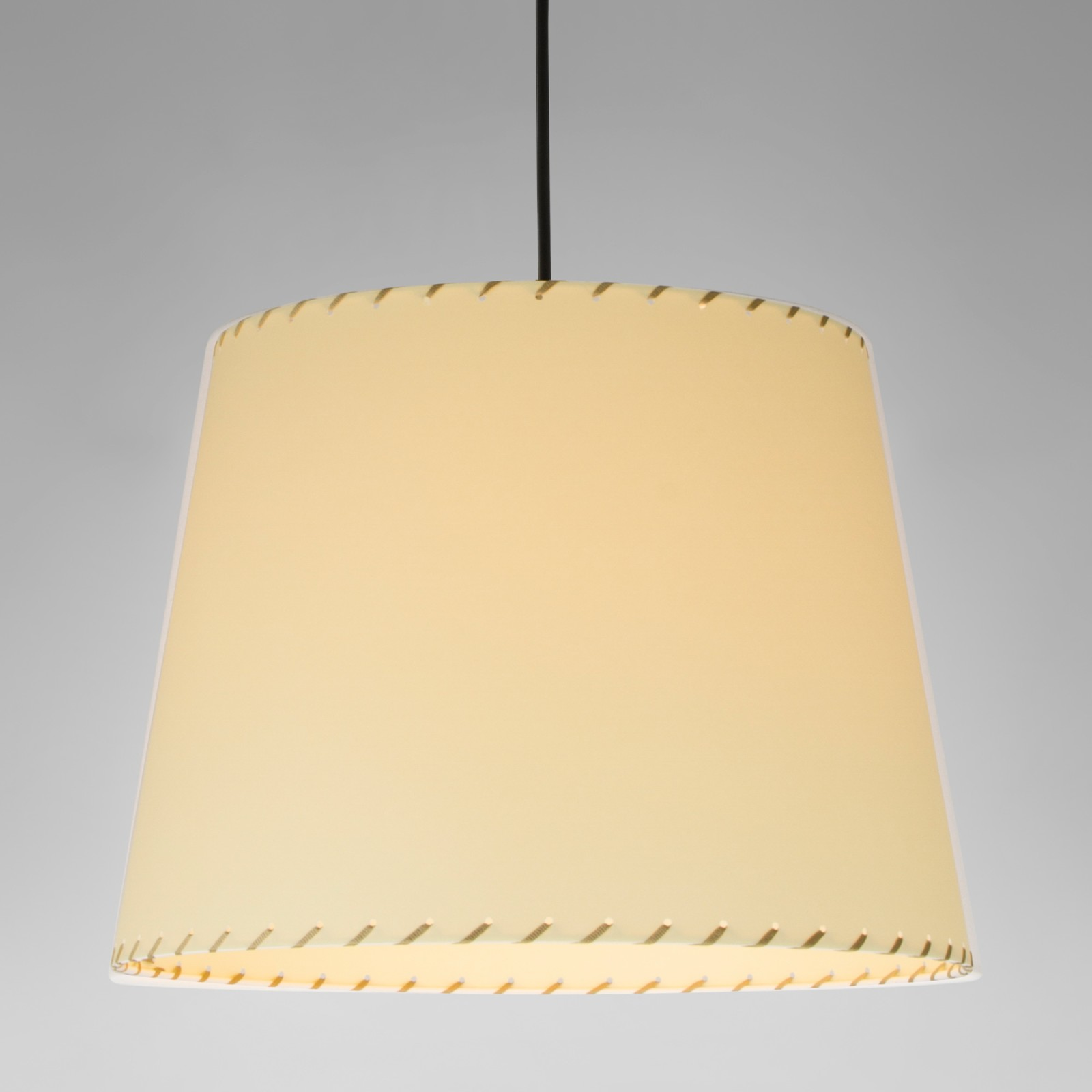 Sistema Sisisi GT3 Pendant Light Satin nickel, Stitched beiged parchment