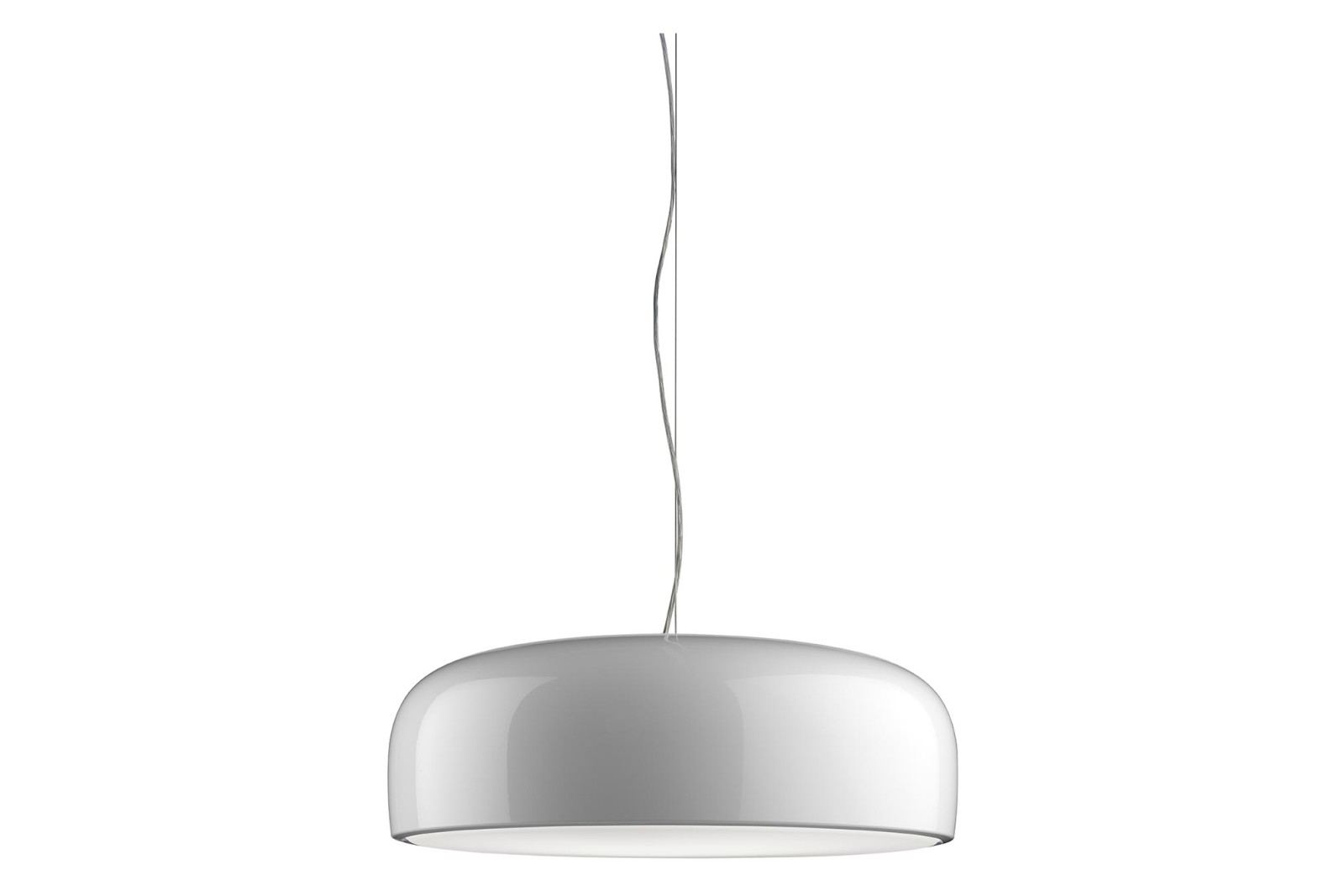 Smithfield LED Pendant Light Metal Glossy White, PUSH DIM