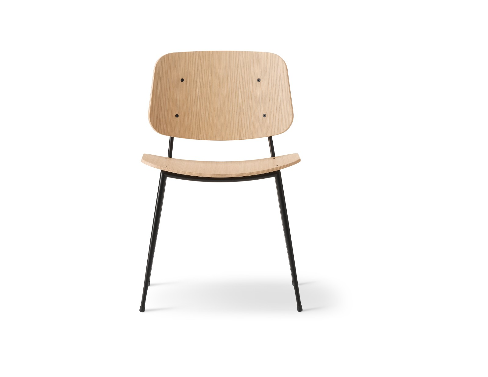 Soborg chair, steel frame Oak lacquered, Black painted