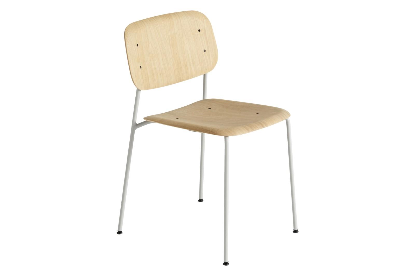 Soft Edge 10 Dining Chair Wood Matt Oak / Metal Soft Grey
