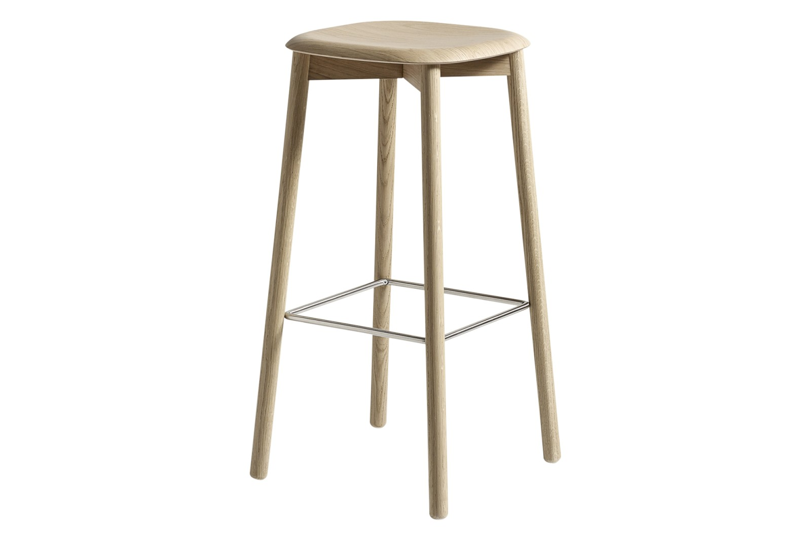 Soft Edge 32 Bar Stool High Wood Matt Oak