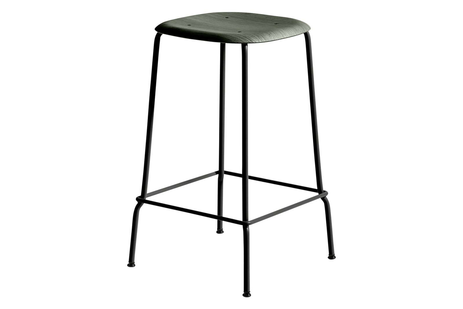 Soft Edge 30 Bar Stool Low Wood Hunter Oak / Metal Black