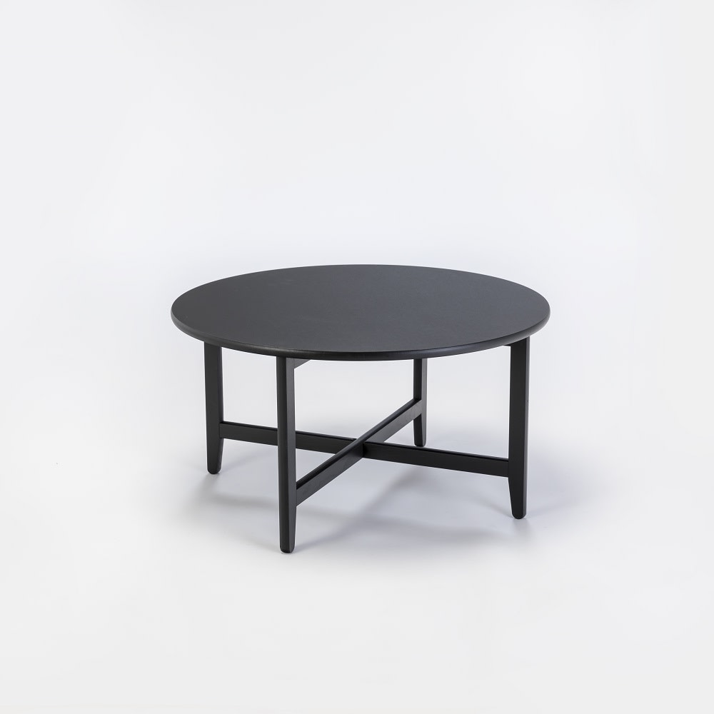 "SPÃ""N Lounge Table Black Stained Solid Oak, 80cm"