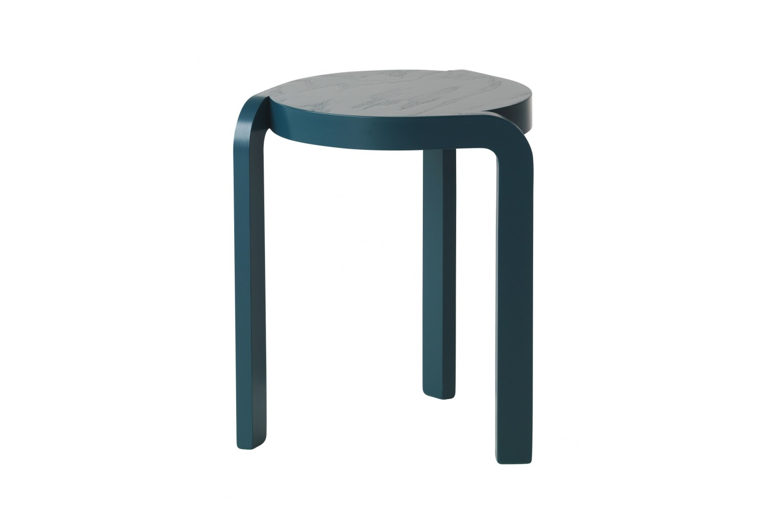 Spin Stackable Stool Ash Wood Blue