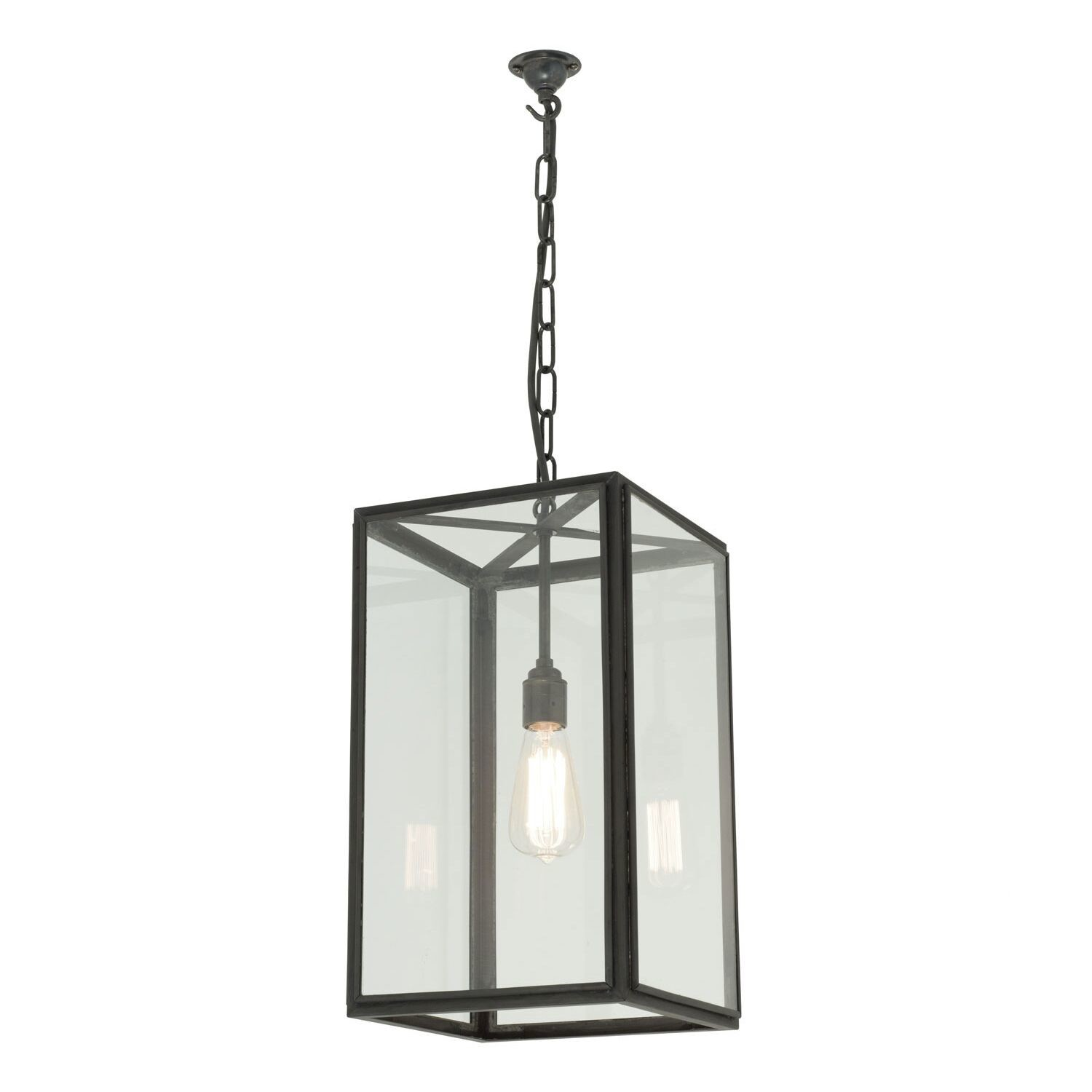 Square Pendant Light 7639 Clear glass, Medium