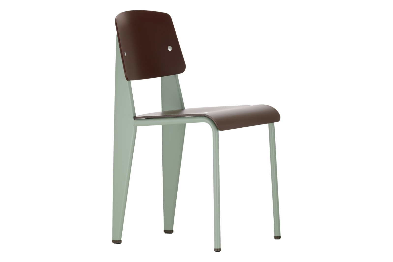 Standard SP Dining Chair 74 olive, 04 glides for carpet, 91 Mint powder-coated