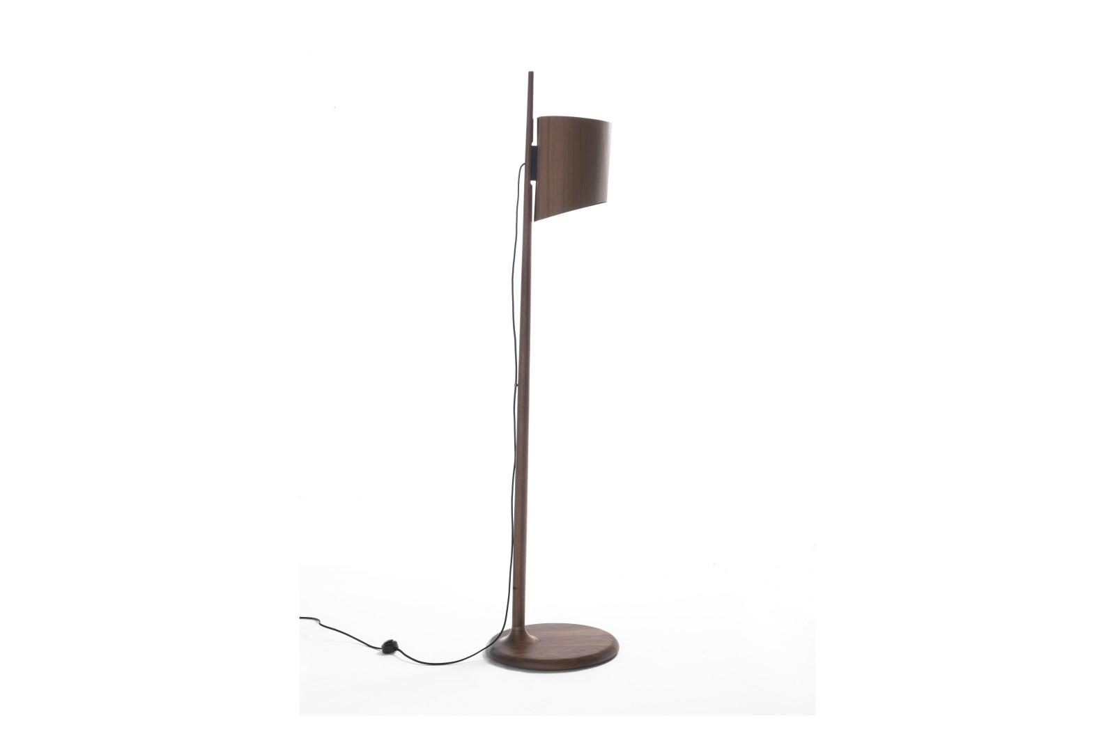 Stick Floor Lamp Canaletta Walnut