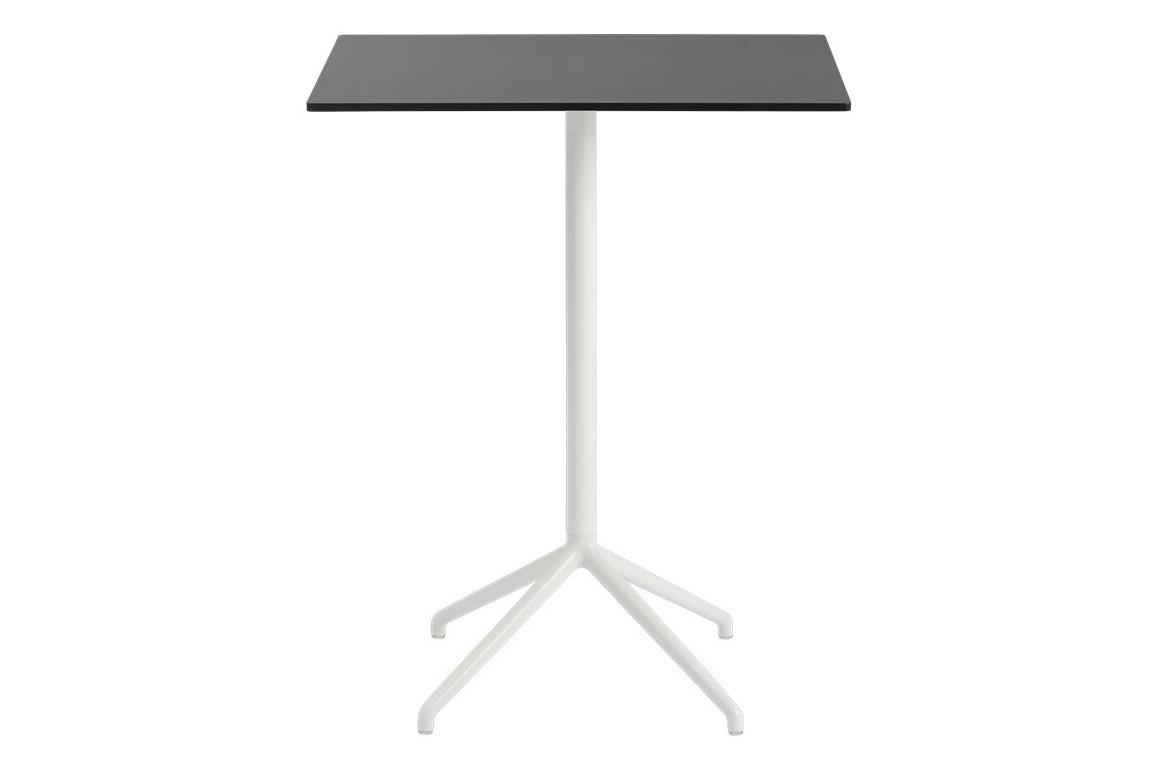 Still Cafe Table - Rectangular Top - Medium Black Nanolaminate / White 75 X 65 H 95