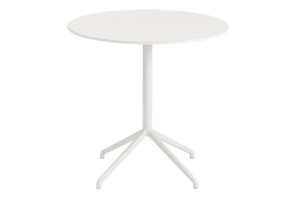 Still Cafe Table - Round Top - Low White Nanolaminate / White 75 H 73