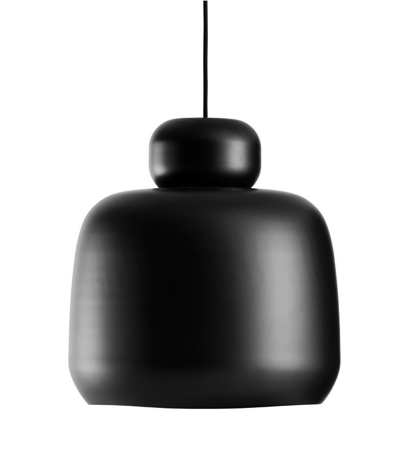 Stone Pendant Light Black